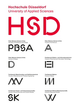 Logos of University of Applied Sciences Duesseldorf