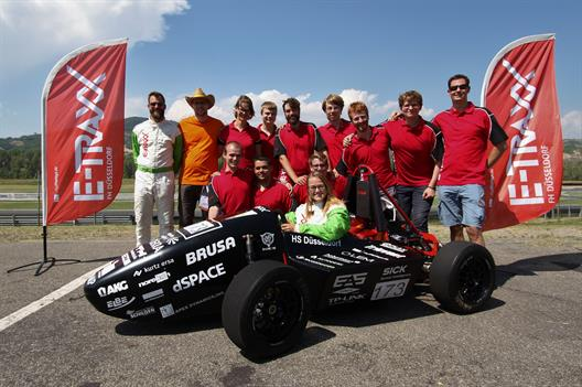 "Formula Student Team ""e-Traxx"" of University of Applied Sciences at the Formula Electric in Italy"