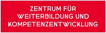 red box with white letters: centrum for training and competence development