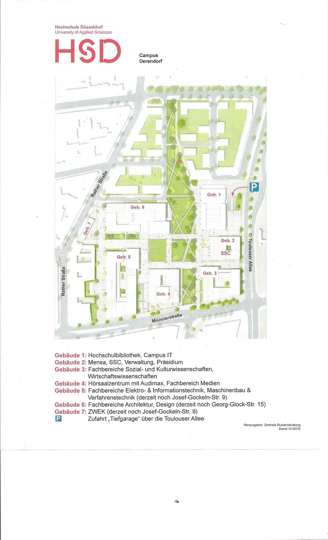 Map of Campus Derendorf