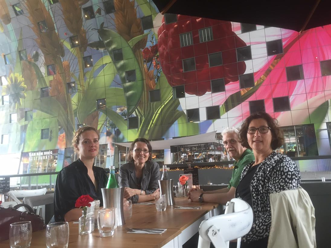 Rotterdam lunch in the market hall with the hosts Eva van Ginhoven, and Saskia Best.