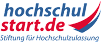 Hochschulstart logo blue and red
